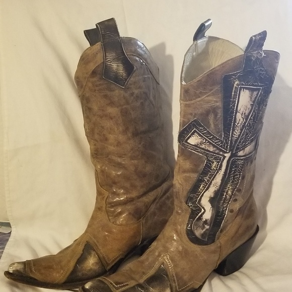 83cc4a0a0fe Ladies Stetson Burnished Leather Cowgirl Boots
